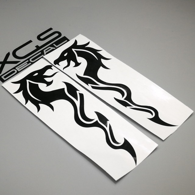 Xgs decal car styling vinyl cut decals a pair of symbol crying dragons waterproof outdoor helmet