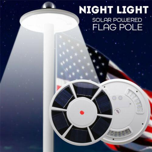 TPFOCUS 42 LED Solar Flag 15ft-25ft Pole Lights IP65 Waterproof Flagpole Downlight Tent Light Emergency Lamp