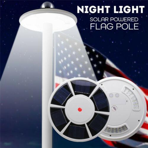 Işıklar ve Aydınlatma'ten Güneş Lambaları'de TPFOCUS 42 LED güneş bayrak 15ft 25ft kutup ışıkları IP65 su geçirmez bayrak direği Downlight çadır ışığı acil durum lambası
