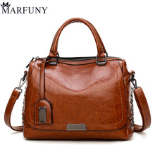 MARFUNY Brand Fashion Handbags Women Rivet Leather Bags Female Casual Tote Ladies Bag Crossbody Bags For Women New Style 2018 new arrival stylish women split leather bag handbags famous brand fashion boston lady leather tote bags for female ladies