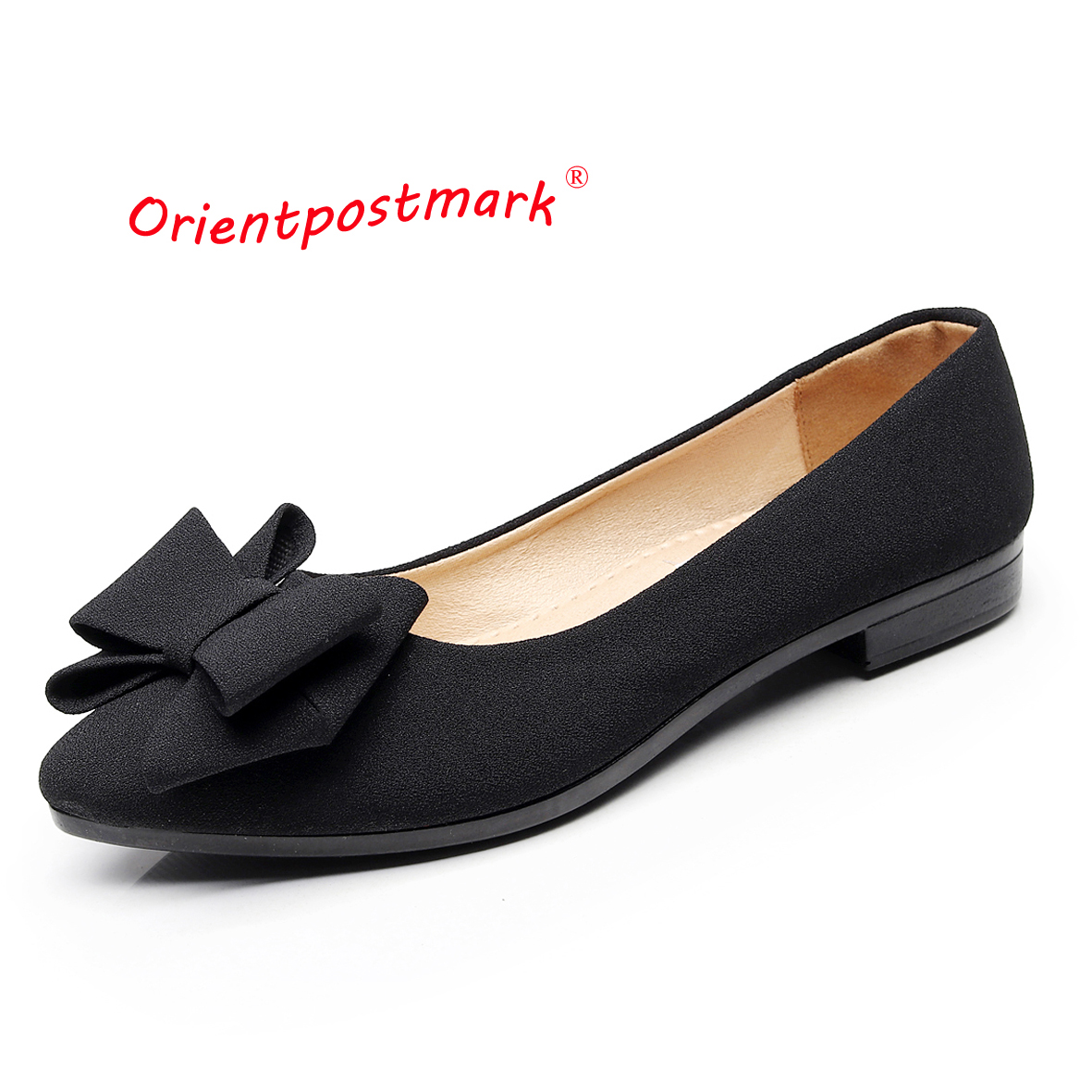 Orientpostmark Women's Pregnant Flats Boat Shoes Women Flats Shoes for Work Cloth Sweet Loafers Slip On Women Ballet Flats Shoes women work sweet shoes women wedges shoes cloth loafers slip on women s wedges office shoes for driving rest oversize boat shoes