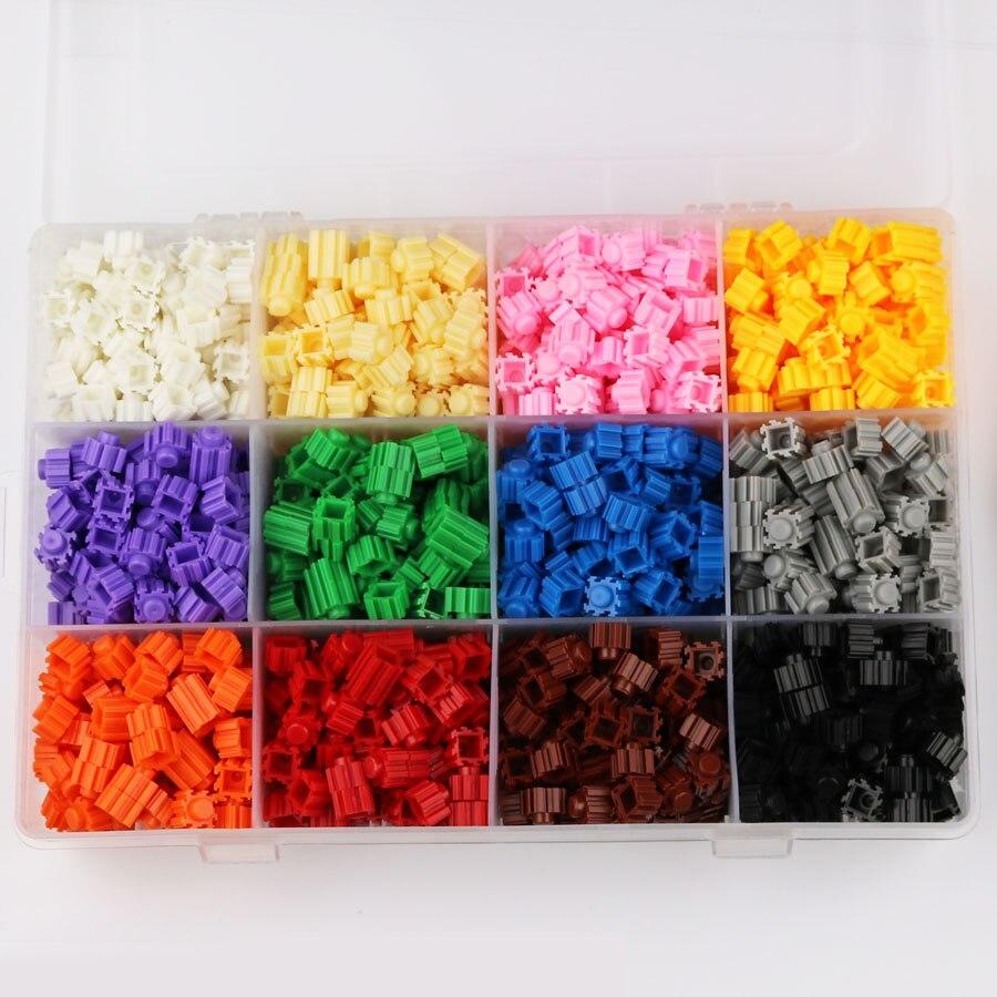1200 pcs Caixa packagin partículas Blocos de Designer Criativo Blocos Tijolos DIY Blocos de Construção de Brinquedos Educativos Em Massa Para Presente Das Crianças