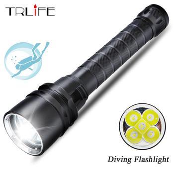 Độ sáng cao 3 * T6 15000 lums Đèn Pin Torch Lặn Chuyên Nghiệp linternas Lặn Dưới Nước 200 Mét Lặn Đèn Pin