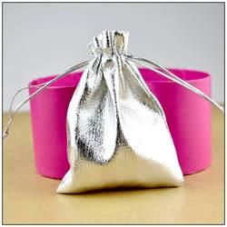 Низкая цена свадебные Рождество ювелирных изделий Подарочная упаковка Чехлы 100 шт. 13*18 см Серебряная Атласная Ткань Сумки с drawsrting