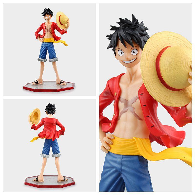 2016 1 Pcs 24 Cm Pvc Japonais Anime Figure One Piece Luffy