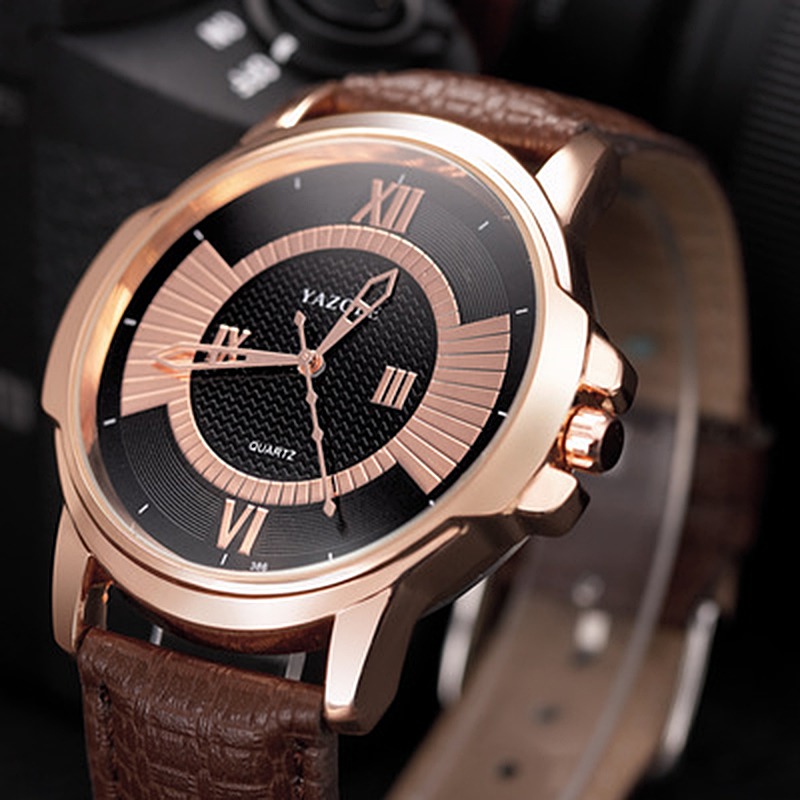 Permalink to Man Watch 2019 YAZOLE Brand Men Watches Leather band Quartz Watch Fashion Business Watch hodinky montre homme erkek kol saat