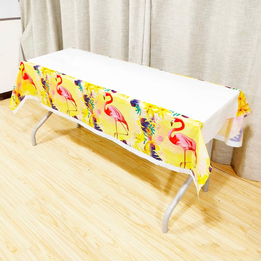 Flamingo Plastic Table Covers Kids Birthday Party Supplies Ideas