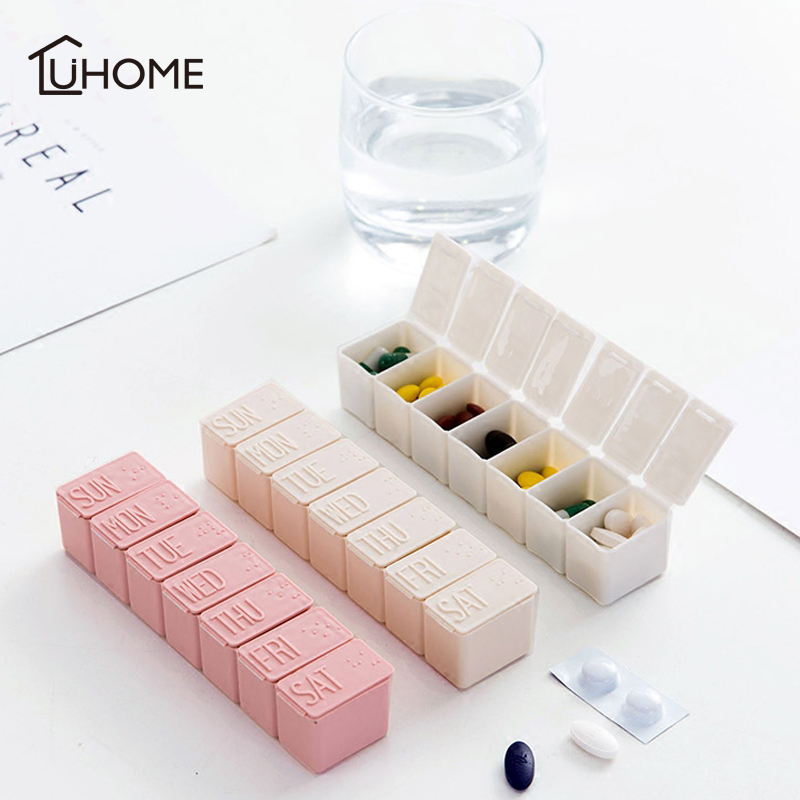 2 шт. Портативный 7 Дней Случае Таблетки Витамин Медицина таблетками коробка случаях наркотики капсуле разветвители контейнер Пластик неде...