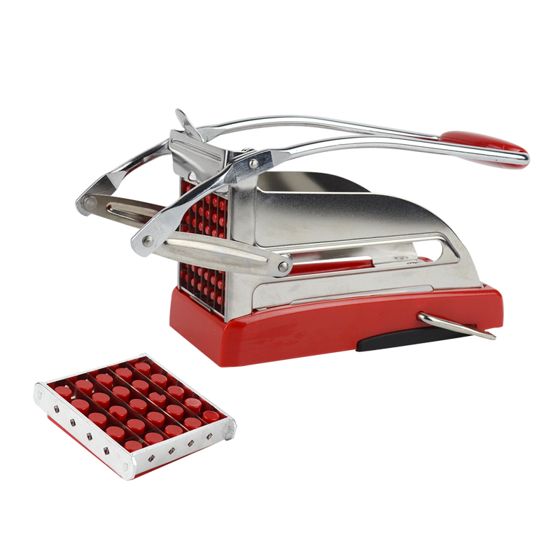 Coupeur de pommes de terre de cuisine de coupeur de friture de français de luxe découpant la trancheuse de fabricant de hachoir avec 2 lames de coupe