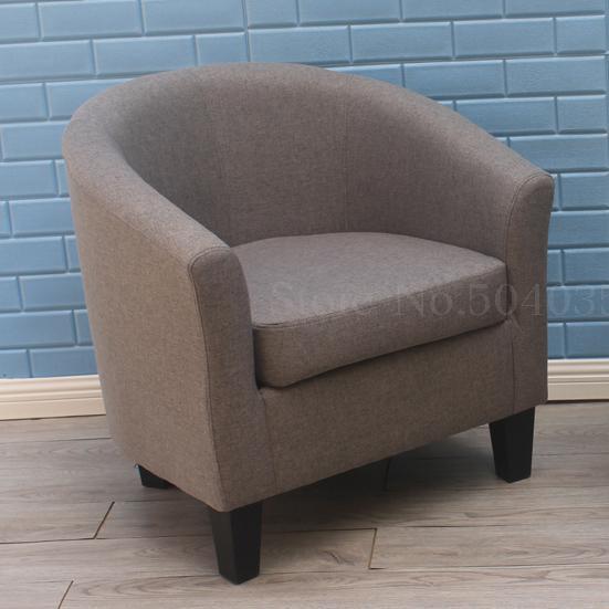 Европейский тканевая одноместная Софа стул интернет кафе кофе небольшой диван гостиничная комната кабинет компьютерный диван стул - Цвет: VIP 19