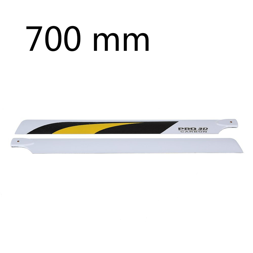 EBOYU(TM) Carbon Fiber 700mm Main Blades for Align Trex 700 RC Helicopter