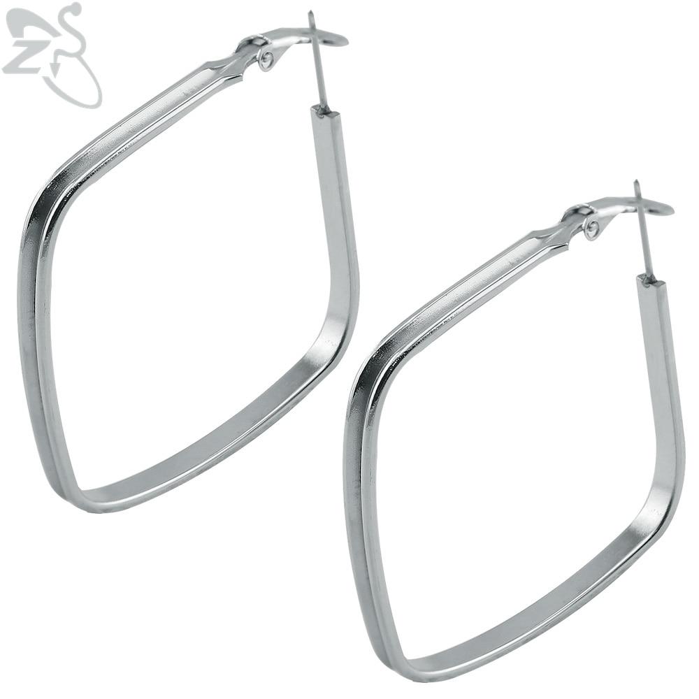 Zs Fashion Earring Hoops Hoop Piercing Women Clip On Earrings Hypoallergenic 316l Surgical Steel Cartilage In From Jewelry
