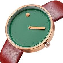 GEEKTHINK Relojes Mujer Elegante Colorido Simple Azul Verde Japón Movimiento Cuarzo Reloj de pulsera Regalos Femeninos Vestido Reloj kol saati