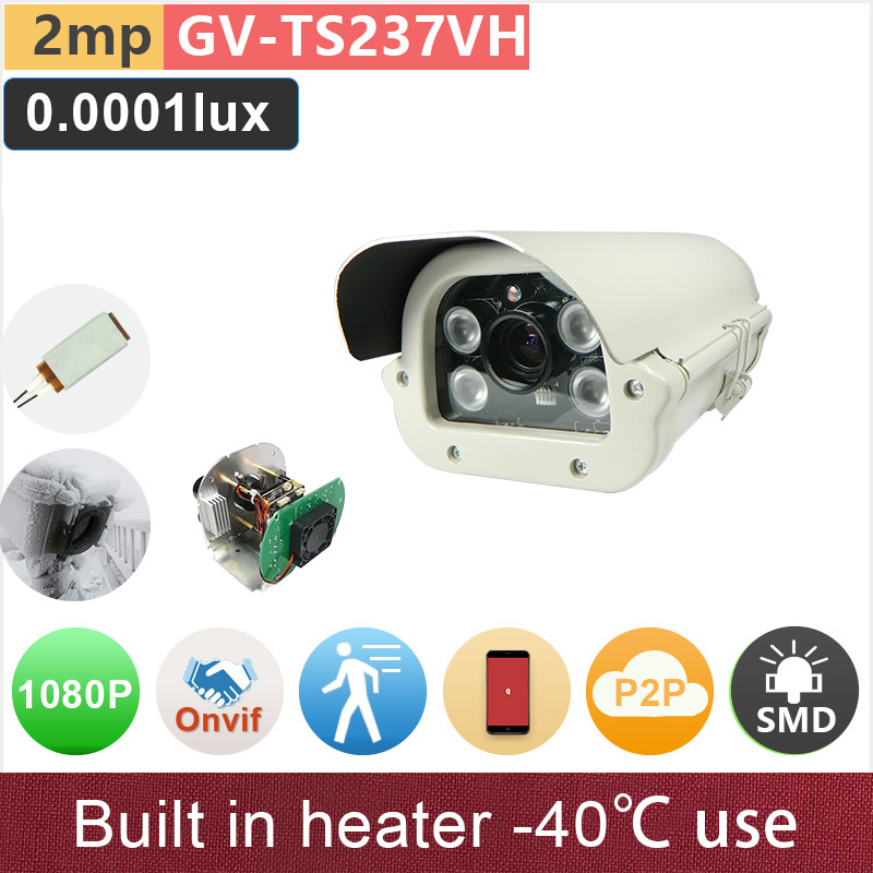 SONY STARVIS#Built in heater#IMX291 1080P IP camera FHD 2mp starlight outdoor waterproof security cctv camera GANVIS GV-TS237VH russian cctv security ip camera 5mp 1080p outdoor 2 8mm varifocal 4x manual zoom built in heater ip surveillance street camera