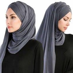 2019 мусульманских под шарф лето Исламская одежда плотная мгновенный хлопок Джерси легкий хиджаб полное покрытие кепки головные уборы