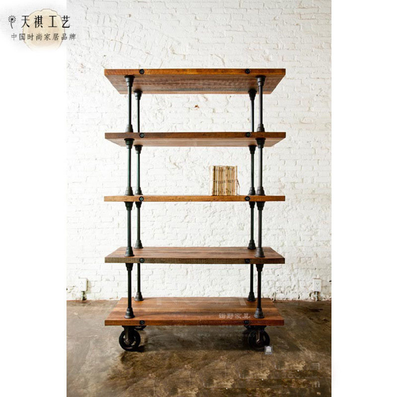 American Iron Vintage Pulley Movable Sideboard Solid Wood Dining Room Furniture Kitchen Cabinets Living Room Display Cabinet Cabinet Shelf Cabinet Metalcabinet Furniture Aliexpress