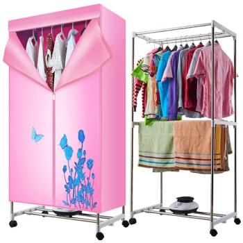 все цены на Foldable 15KG Double Layer Portable Clothes Dryer Wardrobe Timing Air Drying Machine PTC Heating 1050W Wheels Middle Four Tubes онлайн