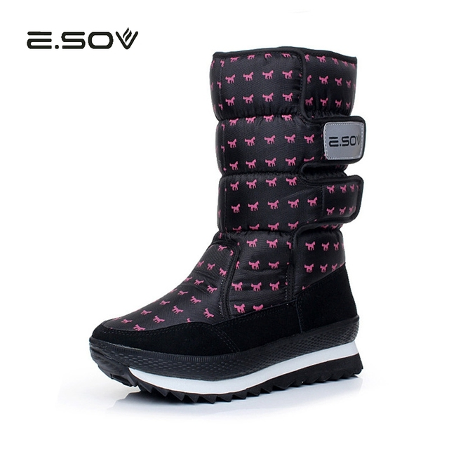 621bcd1a7 ESOV Women's Snow Boots For -30 Degree Winter Waterproof Rubber Sole Ladies  Shoes Winter Women Boots 2018 Warm Woman Boot Shoes