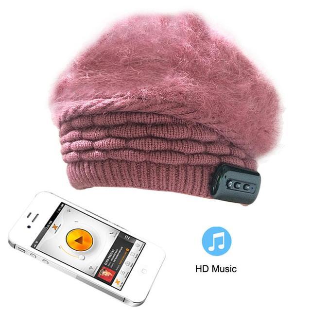 Women Winter Beanie Hat Wireless Bluetooth Smart Cap Headset Headphone Speaker Mic Gorro Amazing