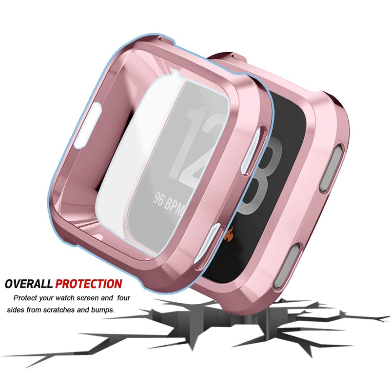 Case-Cover Watch-Phone Smartwatch Protection Wearable Fitbit Versa Silicone Tpu for Devices