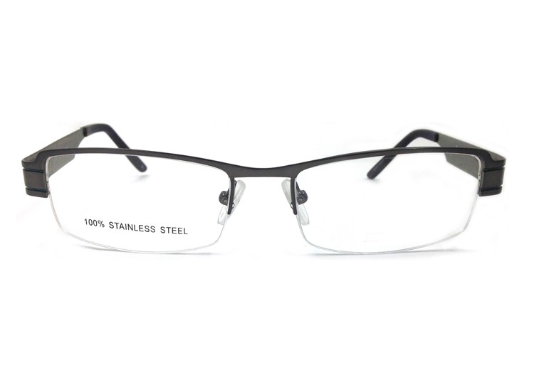 6e41e7a49d8 Laura Fairy Classic Half Rimless Glasses Frame Men Business Style ...