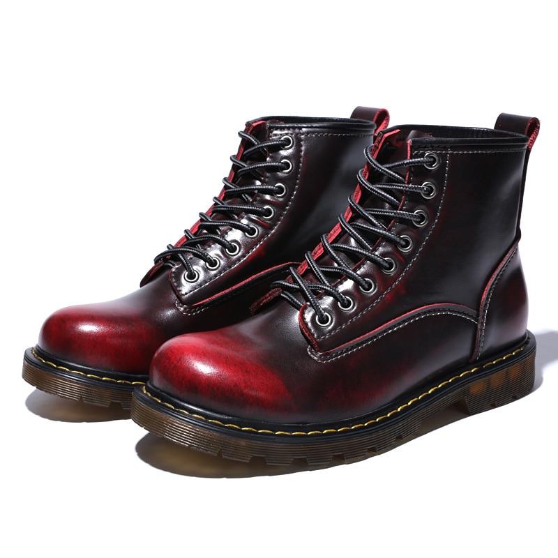 Ботинки; мужские Ботильоны; зимние кроссовки из натуральной коровьей кожи; нескользящая Водонепроницаемая Рабочая обувь - 5