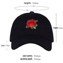 VORON 2017 New Hot Fashion Roses Men Women Baseball Caps Spring Summer Sun Hats for Women Solid Snapback Cap Wholesale Dad Hat
