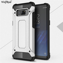 sFor Case Samsung Galaxy Note 8 Cover Anti knock TPU Plastic Business Style WolfRule Case For