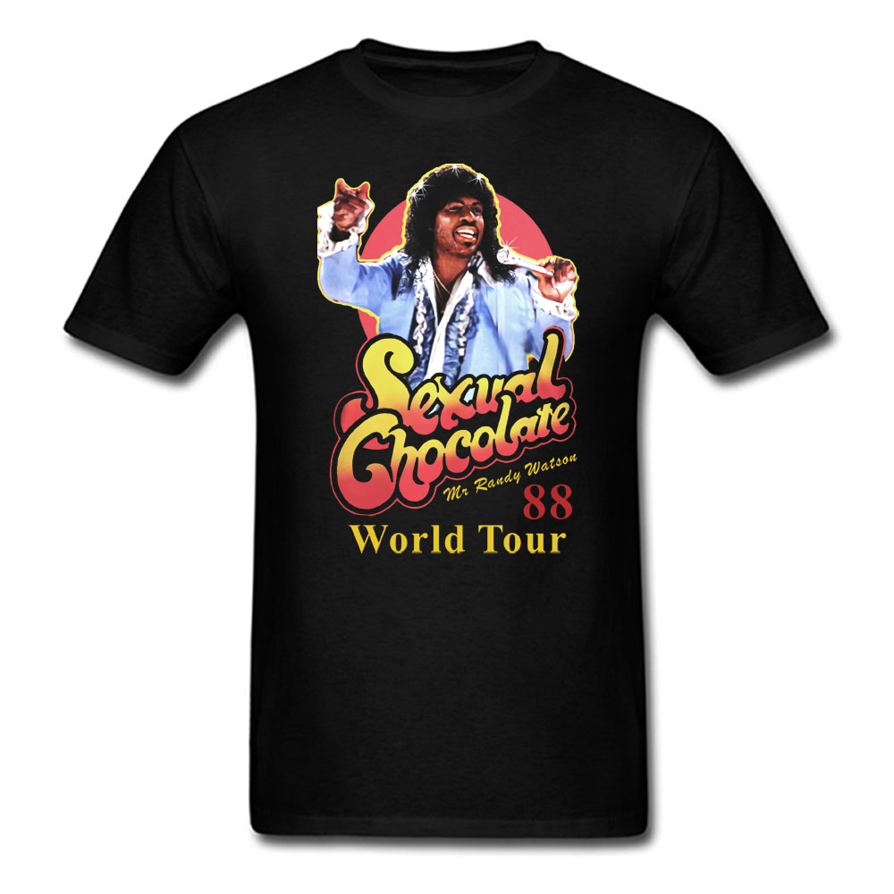 Sexual Chocolate 88' World Tour Randy Watson Coming To America   T     Shirt   Mens And Womens Cotton Printing   Shirt   Big Size S Xxxl