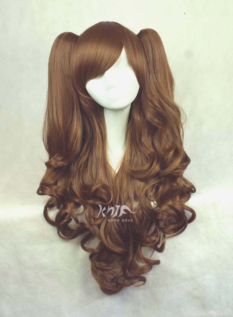 Good quality Harajuku hair accessories 600g 85cm synthetic hair jewelry for Lolita cosplay wigs black and white ombre long wavy side bang synthetic fashion lolita harajuku cosplay wig for party