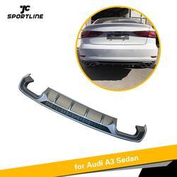 PP tylny zderzak dyfuzor Spoiler dla Audi A3 Sedan Standard 4 drzwi 2017-2019 tylny Spoiler samochodu Non S3