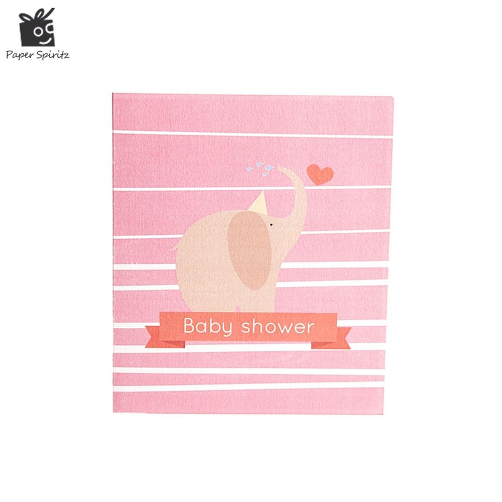 3d Pop Up Baby Shower Christening Baptism Postcards Invitation