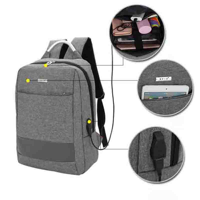 14 Inch Laptop Backpack External USB Charge Computer Backpacks Waterproof Bags for Men Women Anti-theft backpack
