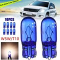 10pcs T10 168/W5W 5W Halogen Bulb Cool White Globe Xenon Sidelight Front Headlight Bulb for Car Light Source
