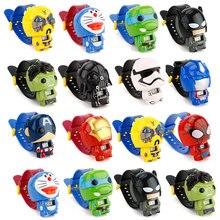 Детские часы Бэтмен Капитан Америка детские часы Nijago халкбастер Железный человек паук игрушка для детей часы для девочек и мальчиков