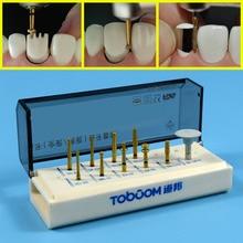 1 set Dental Porcelain Veneer System Kit for Posterior Ceramic Zirconia Crown Dentist Lab Burs FG0710D цена
