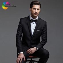 Black Men Suits For Wedding Bridegroom Groomsmen Custom Slim Fit Casual Prom Groom Tuxedo Best Man Blazer Mens With Pants