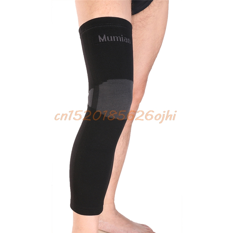 MUMIAN 2017 New Elastic Sports Long Leg Knee Support Brace Wrap Protector Pads Sleeve Cap Patella Guard Volleyball