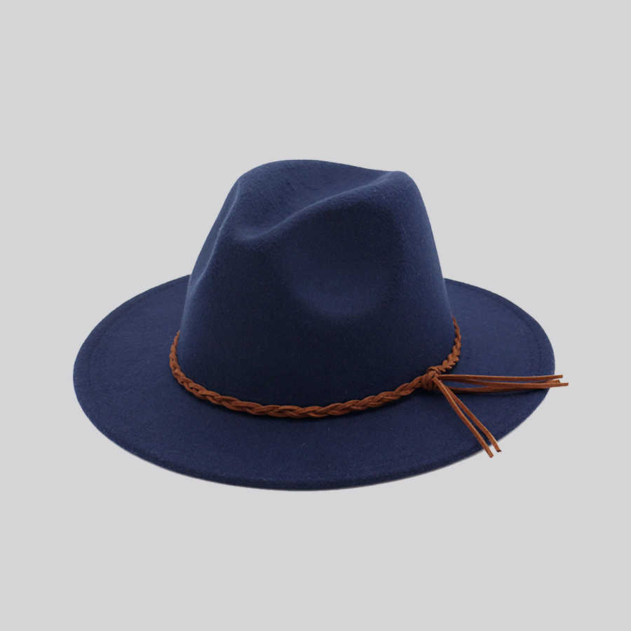 ... 2018 New Fashion Women Winter Wool Red Fedora Bowler Hat Ladies Church  Top Jazz Hat Men ... f1e6693d9875