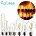 Novidade Luz Luzes LED Filamento da Lâmpada E27 220 V 4 W/6 W/8 W Lâmpada Retro Antigo Edison Bulbo De Vidro do vintage de Alta Qualidade