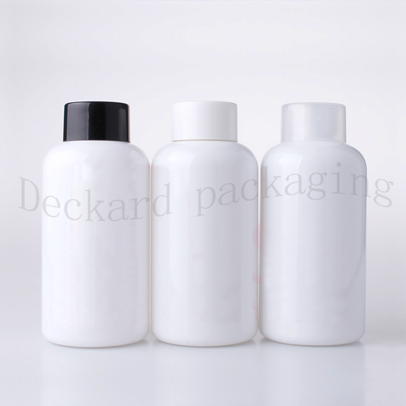 250ml X 30 empty white plastic containers bottles for cosmetic packaging 250cc shampoo lotion liquid soap