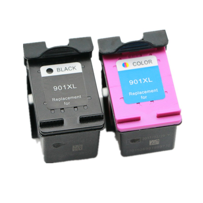 2Pcs For HP 901 901xl ink cartridge For HP Officejet 4500 J4500 J4580 J4550 J4540 J4680