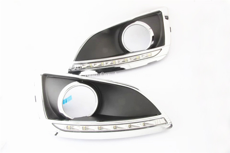 LED DRL Day Light For Hyundai IX35 2010 2011 2012 Daytime Running Light Waterproof Fog Lamp Fog light  Car-styling Free Shipping