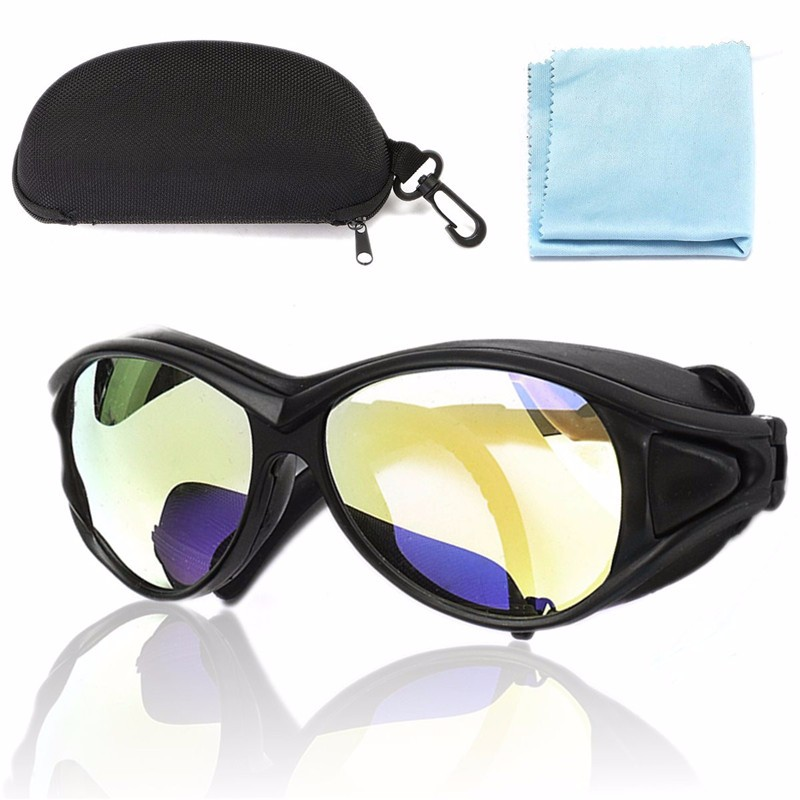 New Arrival PC 150mm CO2 Laser Protective Goggles Double-Layer Professional Glasses 10.6um OD+7 For Laser