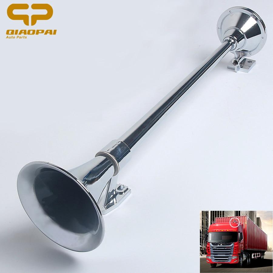 Universal Super Air horn fort train Corne Voiture 64 cm 150DB 12 v/24 v Chrome Sirène Cornes Bateau alarme Retentit BUS Camion corne