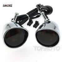 Front Visor Trim Ring Turn Signal Light For Harley XL883 XL1200 Parts Smoke LAMP