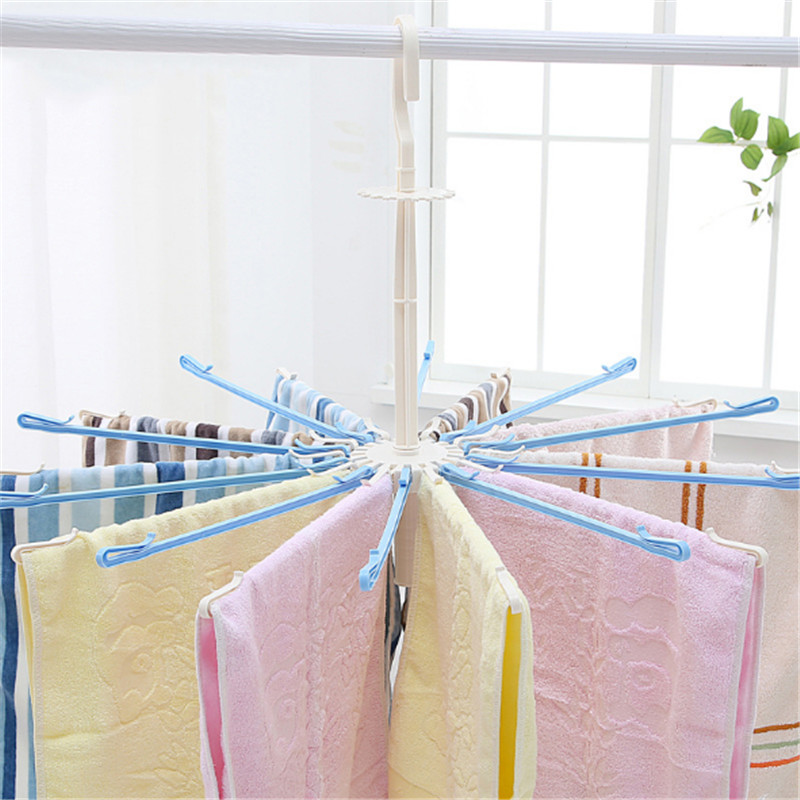 Umbrella 20 clip rotating windproof towel rack children's hanger plastic drying rack wipes diaper drying rack