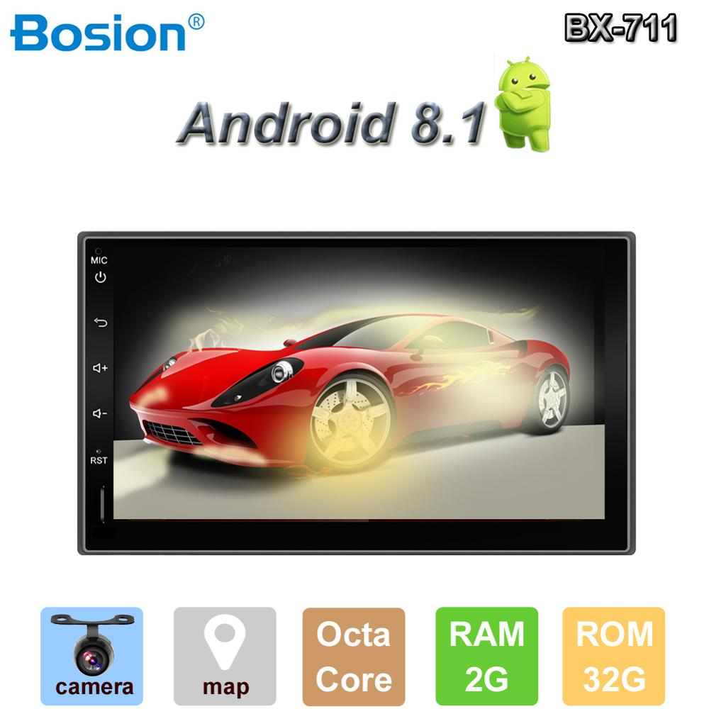 Bosion Android 9.0 Car DVD Octa 8 Core 2G RAM 32GB ROM Car GPS 2 din Universal car Radio dvd player for image