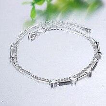 925 Серебряные бусы, цепочка на подоле, ножной браслет для женщин, для девушек, друг, бижутерия для ног, браслет