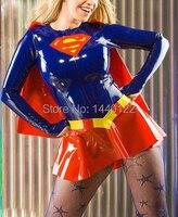 Nhìn Wet tôn sùng sexy Latex catsuit clubwear costume cao su superwoman ăn mặc đồng phục cộng với kích thước hot bán Tùy Chỉnh Dịch V